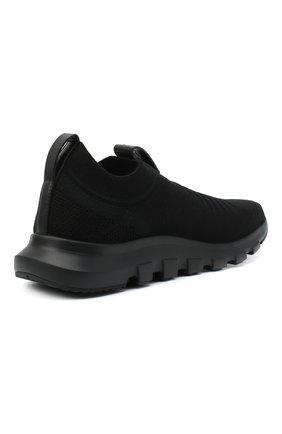 Мужские текстильные кроссовки Z ZEGNA черного цвета, арт. A4416X-LHSTE | Фото 4 (Материал внешний: Текстиль; Материал внутренний: Текстиль; Подошва: Массивная; Стили: Спорт)