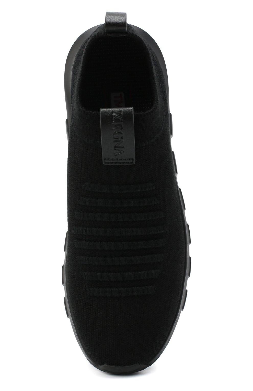 Мужские текстильные кроссовки Z ZEGNA черного цвета, арт. A4416X-LHSTE | Фото 5 (Материал внешний: Текстиль; Материал внутренний: Текстиль; Подошва: Массивная; Стили: Спорт)