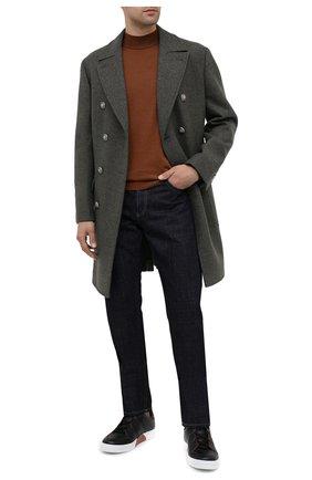 Мужские кожаные кеды ZEGNA COUTURE черного цвета, арт. A2975X-LHACE | Фото 2