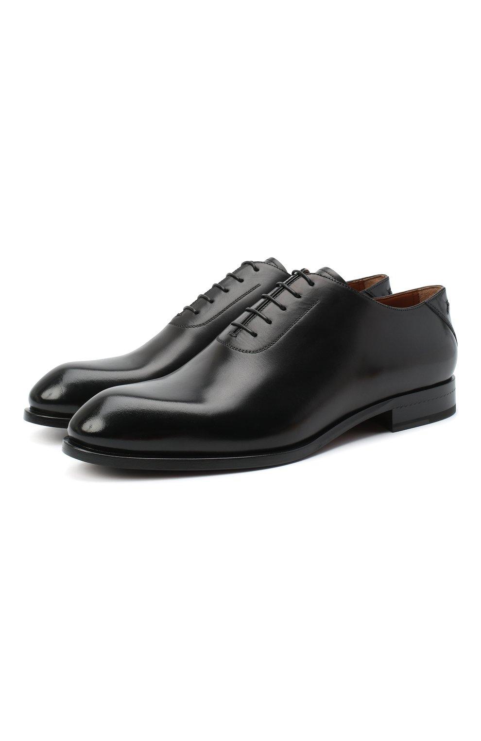 Мужские кожаные оксфорды ZEGNA COUTURE черного цвета, арт. A4423X-LHB0C   Фото 1 (Материал внешний: Кожа; Материал внутренний: Натуральная кожа; Стили: Классический)