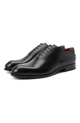 Мужские кожаные оксфорды ZEGNA COUTURE черного цвета, арт. A4423X-LHB0C | Фото 1