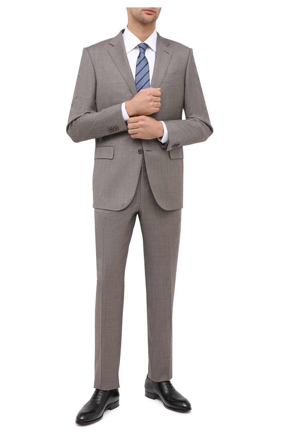 Мужские кожаные оксфорды ZEGNA COUTURE черного цвета, арт. A4423X-LHB0C   Фото 2 (Материал внешний: Кожа; Материал внутренний: Натуральная кожа; Стили: Классический)