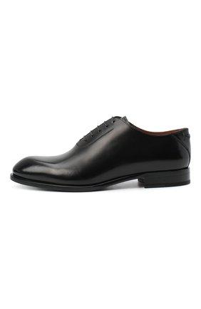 Мужские кожаные оксфорды ZEGNA COUTURE черного цвета, арт. A4423X-LHB0C   Фото 3 (Материал внешний: Кожа; Материал внутренний: Натуральная кожа; Стили: Классический)