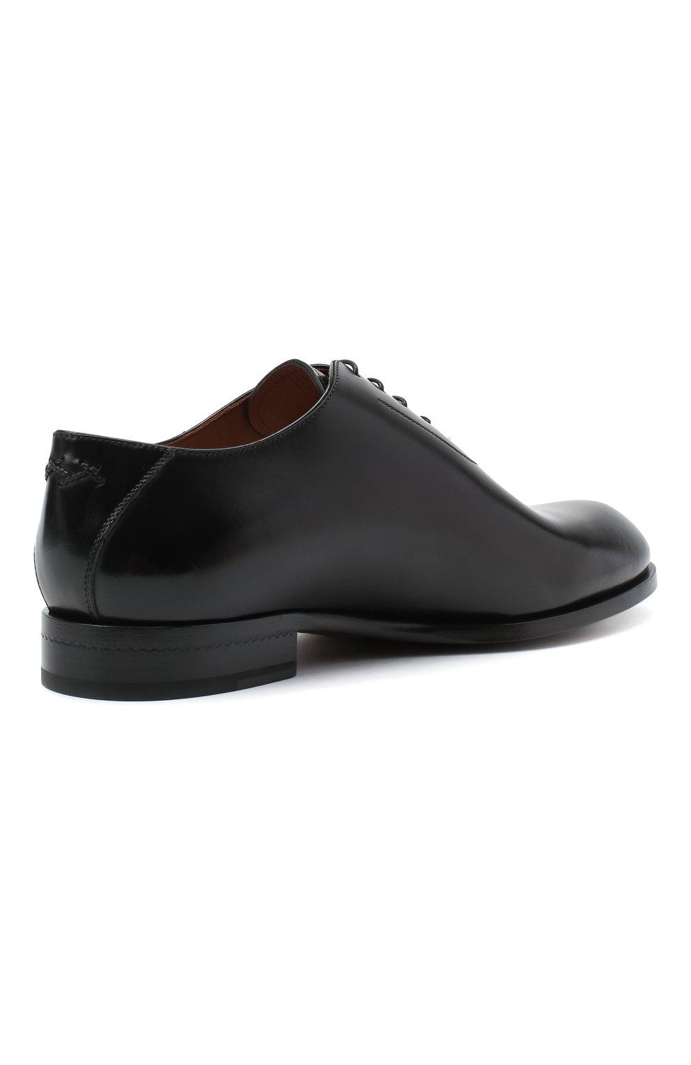 Мужские кожаные оксфорды ZEGNA COUTURE черного цвета, арт. A4423X-LHB0C   Фото 4 (Материал внешний: Кожа; Материал внутренний: Натуральная кожа; Стили: Классический)