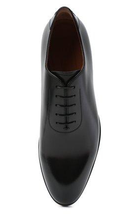 Мужские кожаные оксфорды ZEGNA COUTURE черного цвета, арт. A4423X-LHB0C   Фото 5 (Материал внешний: Кожа; Материал внутренний: Натуральная кожа; Стили: Классический)