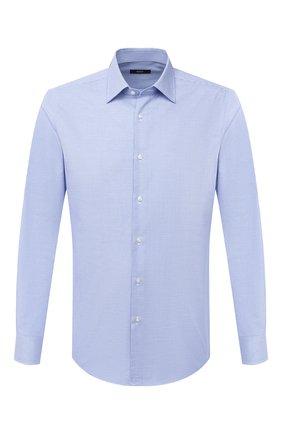 Мужская хлопковая сорочка BOSS синего цвета, арт. 50439554 | Фото 1