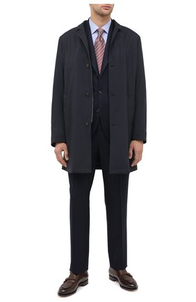 Мужская хлопковая сорочка BOSS синего цвета, арт. 50439554 | Фото 2