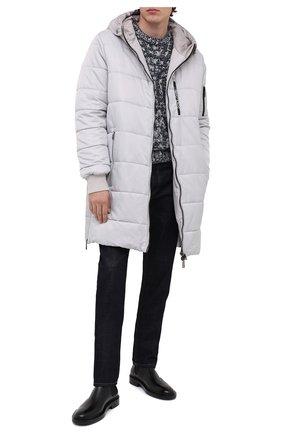 Мужская утепленное пальто DOLCE & GABBANA светло-серого цвета, арт. G9S02T/HUMBF | Фото 2
