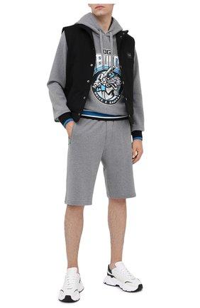 Мужские хлопковые шорты DOLCE & GABBANA серого цвета, арт. GYUTEZ/G7WR0 | Фото 2