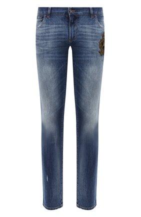 Мужские джинсы DOLCE & GABBANA синего цвета, арт. GY07LZ/G8CR9 | Фото 1