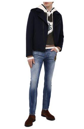 Мужские джинсы DOLCE & GABBANA синего цвета, арт. GY07LZ/G8CR9 | Фото 2