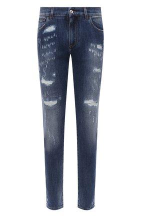 Мужские джинсы DOLCE & GABBANA синего цвета, арт. GY07LD/G8CS4 | Фото 1