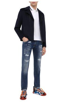 Мужские джинсы DOLCE & GABBANA синего цвета, арт. GY07LD/G8CS4 | Фото 2
