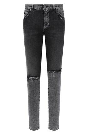Мужские джинсы DOLCE & GABBANA серого цвета, арт. GY07LD/G8CS1 | Фото 1