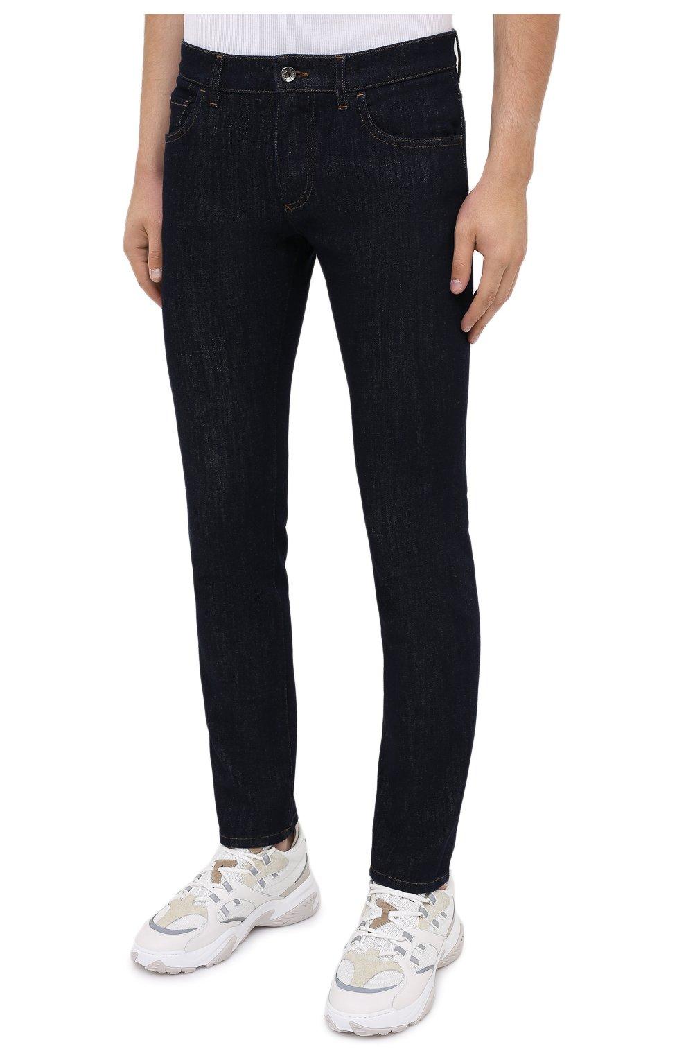 Мужские джинсы DOLCE & GABBANA синего цвета, арт. GY07LD/G8CR2 | Фото 3