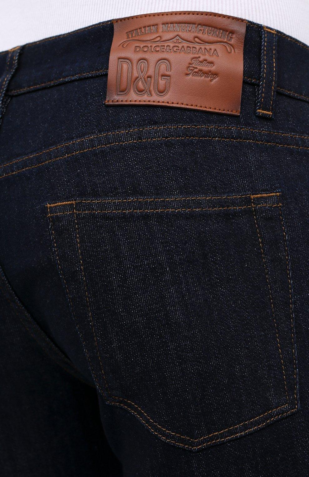 Мужские джинсы DOLCE & GABBANA синего цвета, арт. GY07LD/G8CR2 | Фото 5