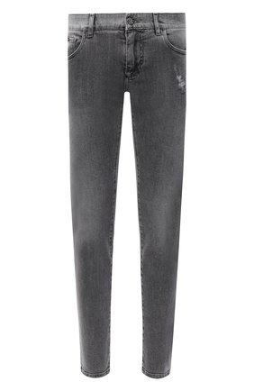 Мужские джинсы DOLCE & GABBANA серого цвета, арт. GY07LD/G8CP3 | Фото 1