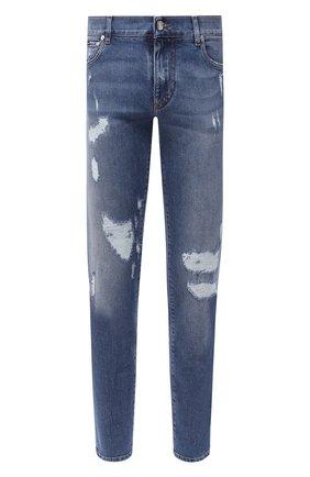 Мужские джинсы DOLCE & GABBANA синего цвета, арт. GY07CD/G8CS7 | Фото 1