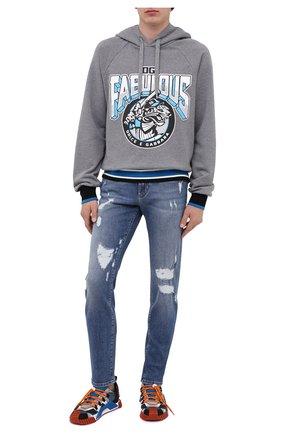Мужские джинсы DOLCE & GABBANA синего цвета, арт. GY07CD/G8CS7 | Фото 2