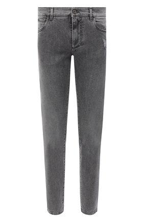 Мужские джинсы DOLCE & GABBANA серого цвета, арт. GY07CD/G8CP3 | Фото 1