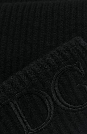 Мужской шерстяной шарф DOLCE & GABBANA черного цвета, арт. GXB87Z/JAVYR | Фото 2
