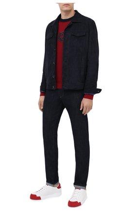 Мужской шерстяной джемпер DOLCE & GABBANA бордового цвета, арт. GXB74Z/JAVXX | Фото 2