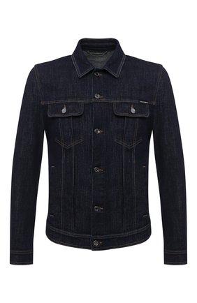Мужская джинсовая куртка DOLCE & GABBANA синего цвета, арт. G9JC2D/G8CR2 | Фото 1