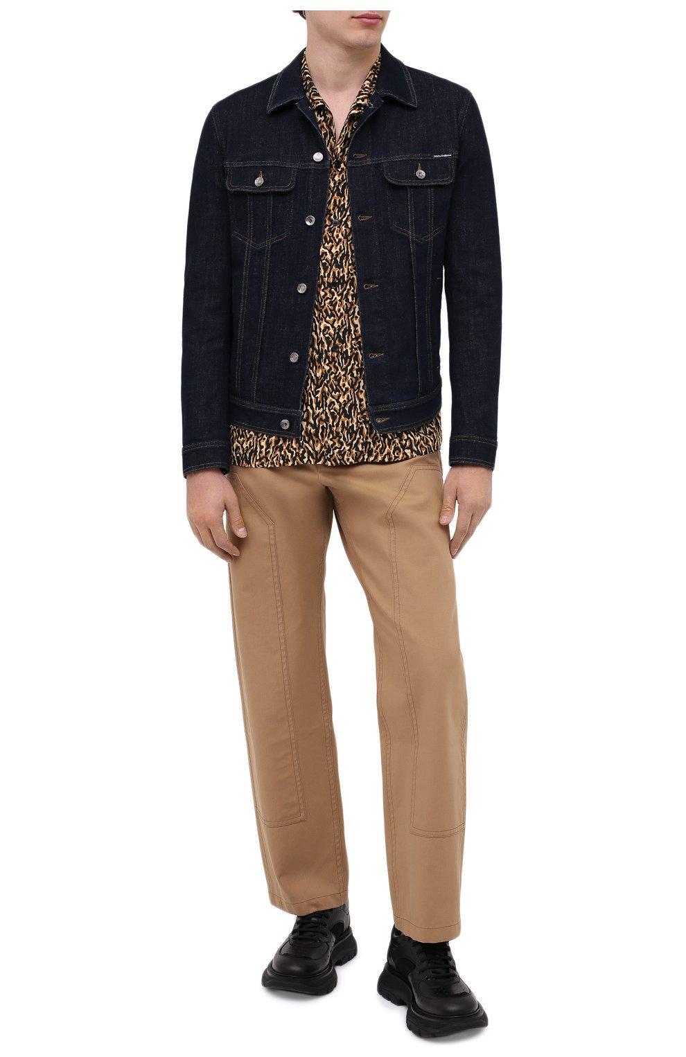 Мужская джинсовая куртка DOLCE & GABBANA синего цвета, арт. G9JC2D/G8CR2 | Фото 2
