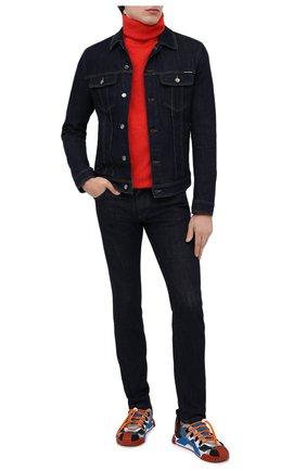 Мужская джинсовая куртка DOLCE & GABBANA синего цвета, арт. G9JC2D/G8CR2 | Фото 3
