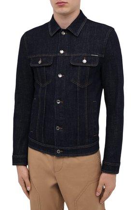 Мужская джинсовая куртка DOLCE & GABBANA синего цвета, арт. G9JC2D/G8CR2 | Фото 4