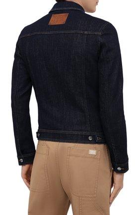 Мужская джинсовая куртка DOLCE & GABBANA синего цвета, арт. G9JC2D/G8CR2 | Фото 5