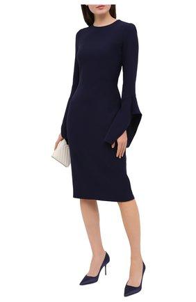 Женские текстильные туфли TOM FORD синего цвета, арт. W2523R-TSA001 | Фото 2 (Подошва: Плоская; Материал внешний: Текстиль; Материал внутренний: Натуральная кожа; Каблук тип: Шпилька; Каблук высота: Высокий)