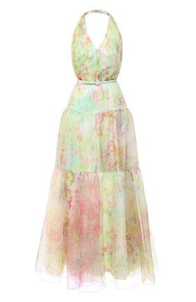 Женское платье с ремнем RALPH LAUREN зеленого цвета, арт. 290798055 | Фото 1