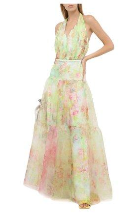 Женское платье с ремнем RALPH LAUREN зеленого цвета, арт. 290798055 | Фото 2