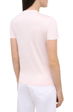 Женская хлопковая футболка LORO PIANA розового цвета, арт. FAI5069 | Фото 4