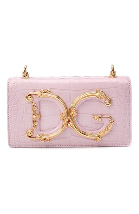 Женская сумка dg girls DOLCE & GABBANA розового цвета, арт. BI1416/B2EA8/AMIS | Фото 1