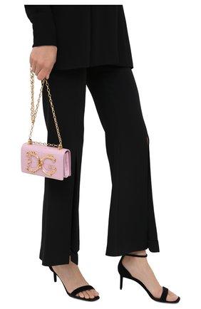 Женская сумка dg girls DOLCE & GABBANA розового цвета, арт. BI1416/B2EA8/AMIS | Фото 2