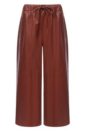 Женские кожаные брюки YVES SALOMON бордового цвета, арт. 9EYP234XXAPXX | Фото 1