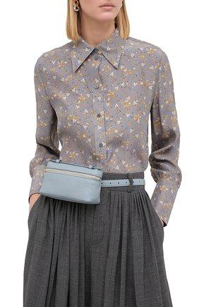 Женская поясная сумка extra pocket l16 LORO PIANA голубого цвета, арт. FAI8396 | Фото 2