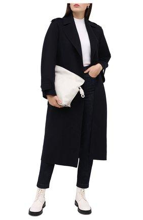 Женское кашемировое пальто LORO PIANA темно-синего цвета, арт. FAL2202 | Фото 2