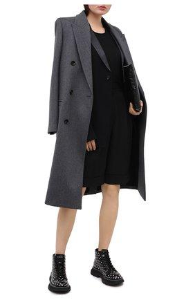 Женские кожаные ботинки ALEXANDER MCQUEEN черного цвета, арт. 595470/WHQSG | Фото 2
