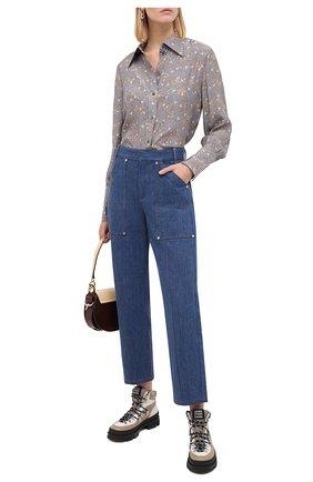 Женские джинсы CHLOÉ синего цвета, арт. CHC20ADP42154 | Фото 2