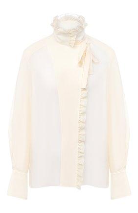 Женская шелковая блузка CHLOÉ бежевого цвета, арт. CHC20AHT20317   Фото 1