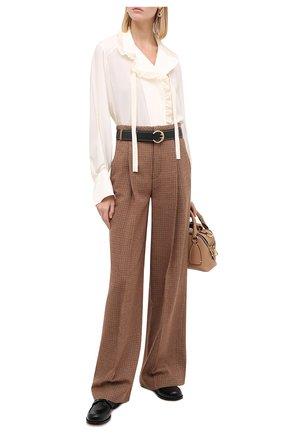 Женская шелковая блузка CHLOÉ бежевого цвета, арт. CHC20AHT20317   Фото 2