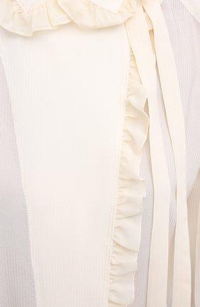 Женская шелковая блузка CHLOÉ бежевого цвета, арт. CHC20AHT20317   Фото 6
