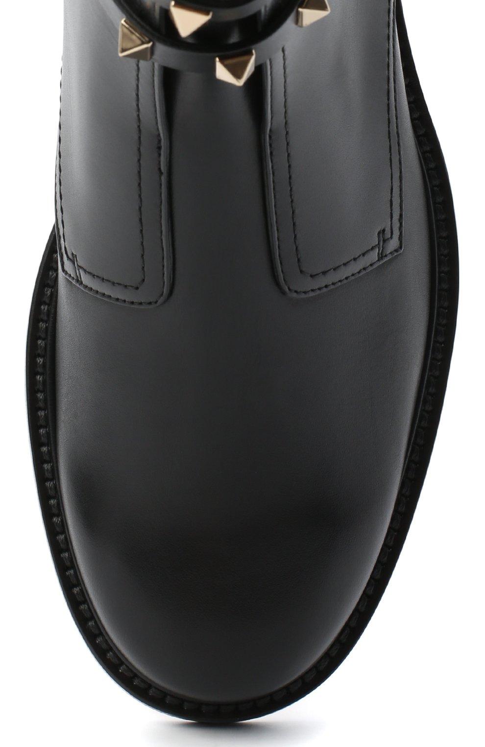 Женские кожаные байкеры valentino garavani rockstud VALENTINO черного цвета, арт. UW2S0Y48/VXS | Фото 5