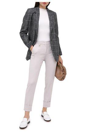 Женские брюки LORENA ANTONIAZZI бежевого цвета, арт. A2043PA038/3255 | Фото 2