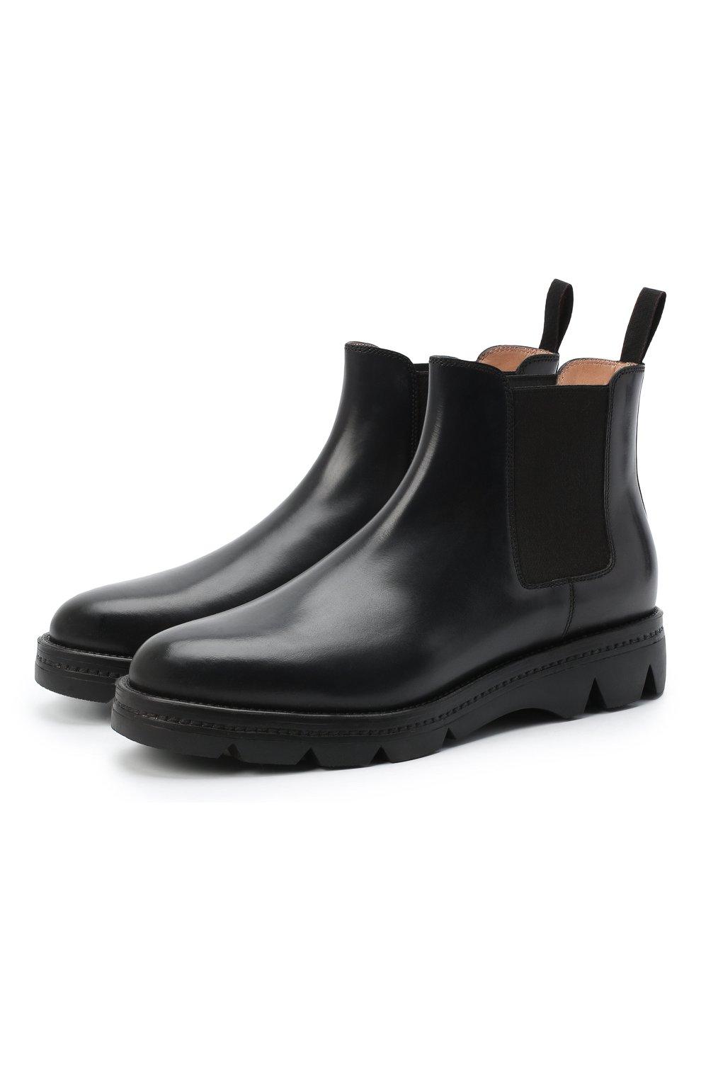 Женские кожаные челси SANTONI черного цвета, арт. WTUD55806SM0NLESN20 | Фото 1
