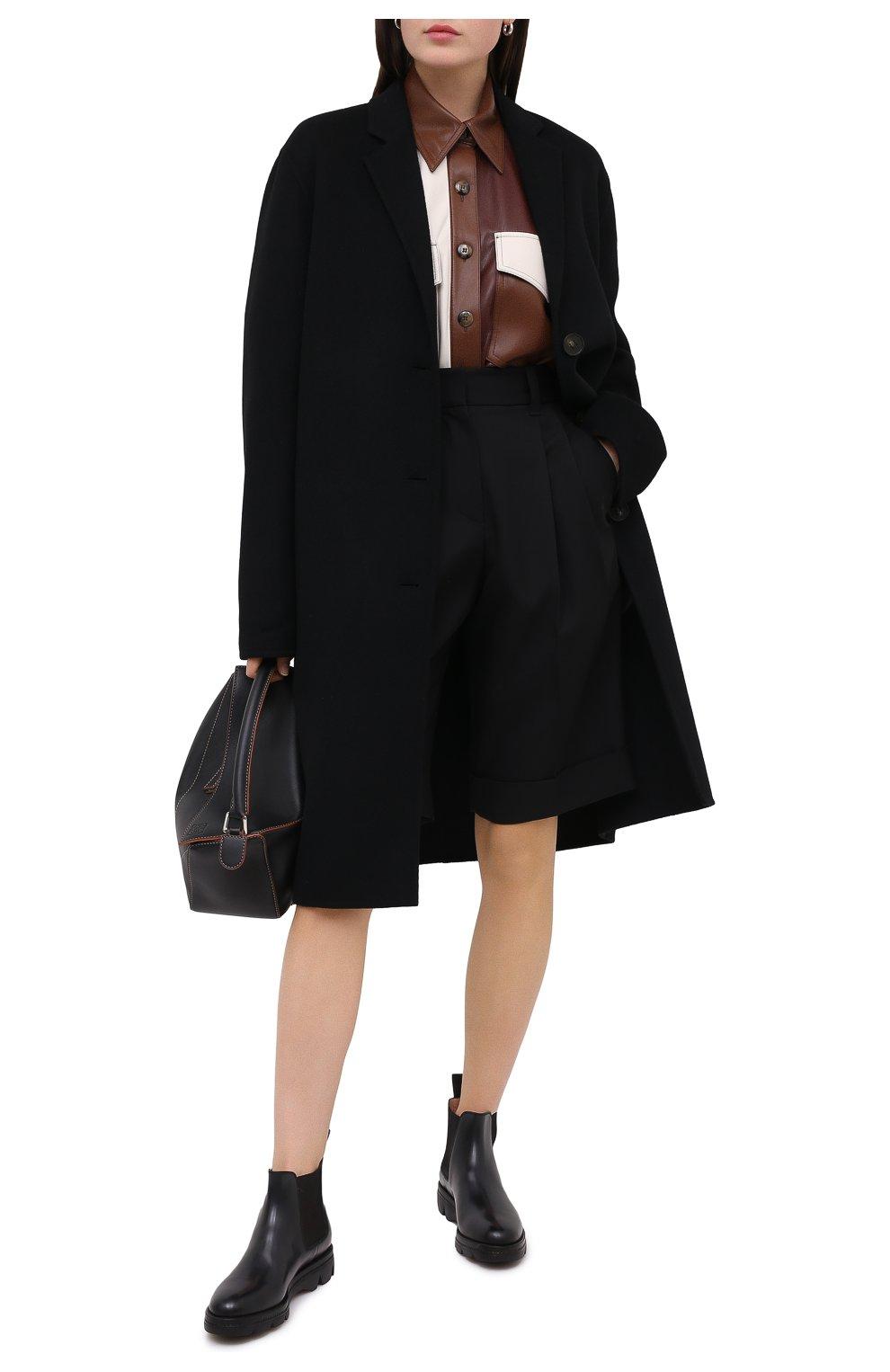Женские кожаные челси SANTONI черного цвета, арт. WTUD55806SM0NLESN20 | Фото 2