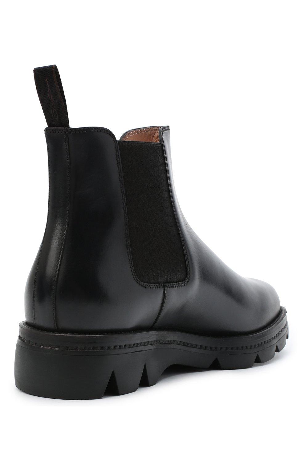 Женские кожаные челси SANTONI черного цвета, арт. WTUD55806SM0NLESN20 | Фото 4